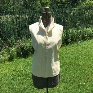 Eileen Fisher Yellow Quilted Zip Up Vest
